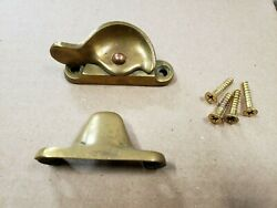 Antique Vintage Brass Window Latches Sash Locks And Keeper With Screws