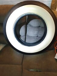Vintage Never Used Firestone Deluxe Champion White Walls 6.00-16 16 Inch Tires.