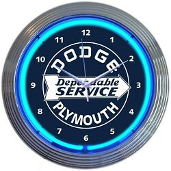 New Dodge Plymouth Dependable Service Auto Parts Store Style Advertising Clock