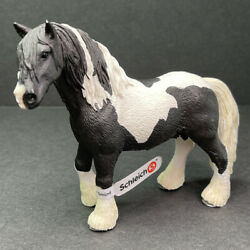 Schleich Tinker Pinto stallion black amp; white 2007 With Tags retired