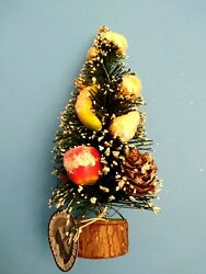 Cody Foster Back Porch Friends Christmas Fruit Decorated Bottle Brush Tree As Is