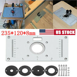 Aluminium Router Table Insert Plate Woodworking Benches Wood Trimmer Tools Usa