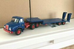 Boxed Conrad 1/50 Scale Man Dhas Hauber With Low Loader Trailer 'meiller' Mib