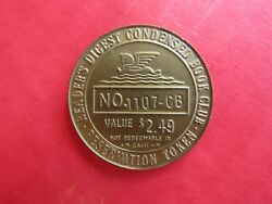 Token Plastic Reservation Readers Digest Condensed Book Club 2.49 1107-cb Coin