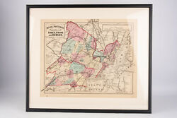 Antique Map Atlas Of New Jersey Counties Of Essex Union Hudson Antique Framed