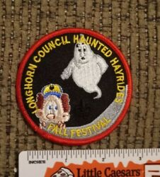 Cub Scouts - Longhorn Council - Fall Festival - Haunted Hayrides - Bsa Patch New