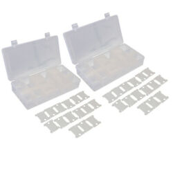 2pcs 18 Compartments Embroidery Floss Organizer Boxes With Floss Bobbins