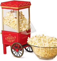 Commercial Popcorn Maker Machine 12-cup Hot Air Pop Corn Making Machines Red New