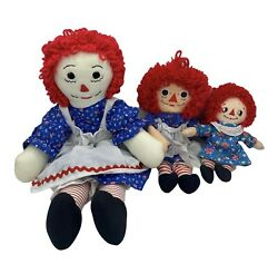 Lot Of 3 Raggedy Anne Dolls Aprons 20 12 9 Applause