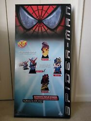 2002 Spiderman Free Falling 72 Life Size Pop Up Standee Extremely Rare