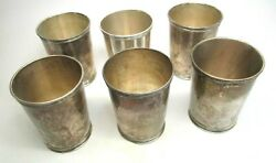 Set Of 6 Matched Sterling Silver Julep Cups By Trees Lex Ky