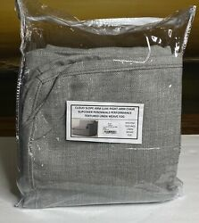 Restoration Hardware Cloud Slope Arm Luxe Right-arm Chair Slipcover Text Lin Fog