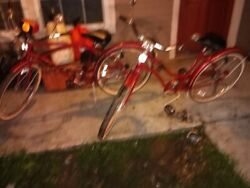 Vintage 1956 Western Flyer Grande Trophy Bicycles. Matched His / Hers, Excellent