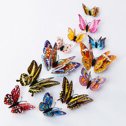 12Pcs 3D Butterfly Wall Decals Decor Removable Stickers Home Decoration