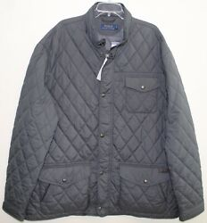 Polo Big And Tall Mens Gray Quilted Down Jacket Nwt Size 3xb