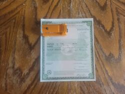 1924 Ford Model T Roadster Paperwork Document