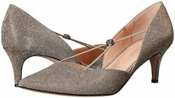 J.Renee Womens Veeva Pointed Toe D orsay Pumps Pewter Size 10.0 2W5g $21.72