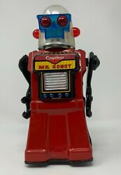 Cragstans Mr Robot Vintage 1960andrsquos Tin Toyyonezawa Japan Works See Video