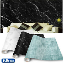 Marble Oil Proof Wall Paper Self Adhesive Waterproof Wall Stickers Kitchen Decor