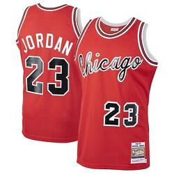 Chicago Bulls Michael Jordan 23 Mitchell And Ness Red 1984-85 Authentic Jersey