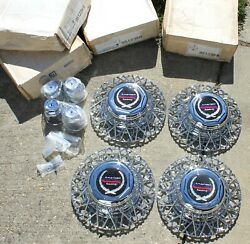 4 New American Racing Chrome Wire Spoke Wheel Baskets And Center Caps 951235-15