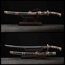 Genuine Ray Skin Wrapped Folded Steel Blade Chinese Sword Teng Long Qing Dao