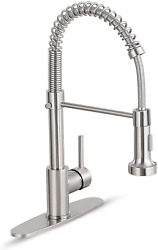 Kitchen Faucet With Pull Down Sprayer Commercial Single Handle For Farmhouse