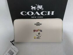 Coach X Peanuts Snoopy Wallet Chalk Leather Purse Womenand039s Fashion Outlet