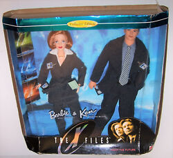 Vintage 1998 The X-files Sully And Mulder Barbie And Ken Dolls Collector's Giftset