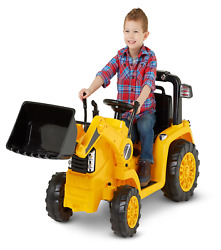 Cat Tractor Bull Dozer Digger Ride-on Toy By Kid Trax Yellow Perfect Gift