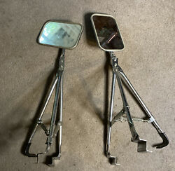 Vintage Truck Camper Rv Swing Out Universal Type Towing Mirrors