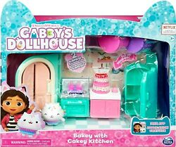 Bakey With Cakey Cat Kitchen Gabby's Dollhouse 2 Surprise Accessories 9 Pieces