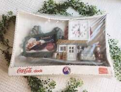 Nwt Vintage Coca Cola Gas Station Wall Clock Antique Collectible Coke Item