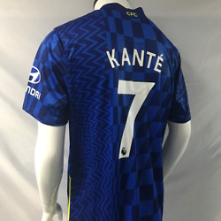 7 Nand039golo Kante Jersey 2021/22 Chelsea Fc Home Menand039s Soccer Football Shirt Blue