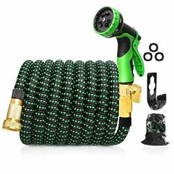 Upgraded Expandable Garden Hose25/3/4 Solid Brass Connectors, 10 50 Ft