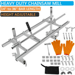Portable Chainsaw Chain Saw Mill Planking Timber Milling 14and039and039 36and039and039 Guide Bar Us