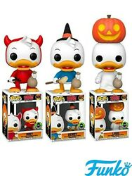 Funko Pop Huey Dewey And Louie Trick Or Treat Exclusive Figure Set New In Stock