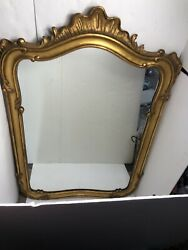 Large Carved Wood John Widdicomb Mirror Gold 45x31 Vintage Rare Wall Or Top