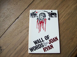 Joan Ryan Wall Of Words The Betrayal Of The Urban Indian Kt./pb 1978clean Copy