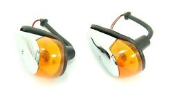 Front Turn Signal Assembly Set Amber With Bulbs Fits Volkswagen Type1 Bug