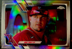 2021 Topps Chrome Mike Trout Sp Image Variation Silver Refractor Very Rare🔥🔥🔥