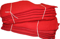 Proand039s Choice Red Auto Mechanic Rags Pack Of 2500 Shop Towels 13 X 13 Inches