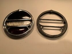 Old Antique Vintage 1920s 1929 Hupmobile Hupp Stop Car Tail Light Rim And Lenses