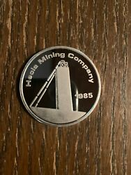 1985 Hecla Mining Company Ranchers Exploration 1 Troy Oz .999 Fine Silver Coin