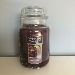 Yankee Candle CRANBERRY TWIST 22oz Large Jar *Free Expedited Shipping*