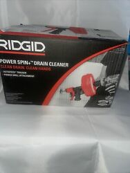 Rigid Power Spin+ Drain Cleaner With Auto Feed 57043 3/4andrdquo - 1-1/2andrdquo Drains