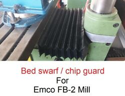 Emco Fb2 Milling Machine Bed Chip / Swarf Cover Shield Protector
