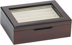Pen Storage Wooden box 10 Fountain Pens Collection Case Brown