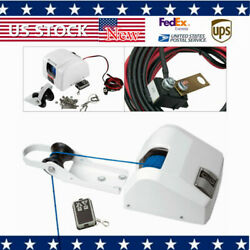 Boat Electric Windlass Anchor Winch Marine Wireless Remote Controlled Saltwater