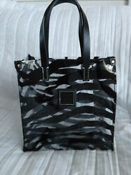 Dooney and Bourke Small Zebra acrylic Lunch Tote shopper $20.00